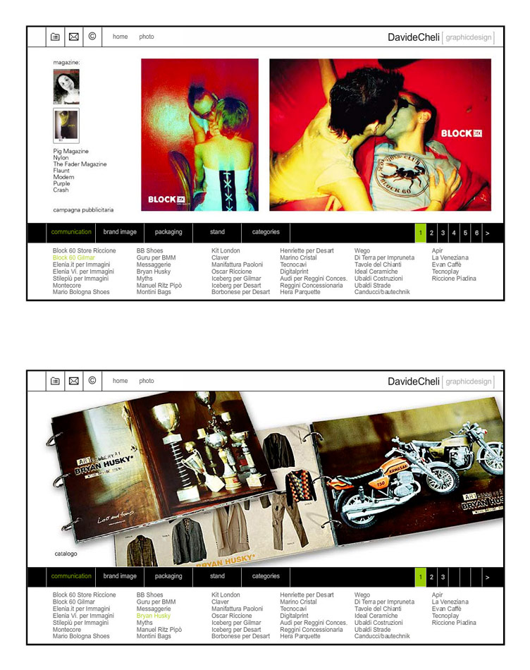 Sezione Aurea / website / 2007