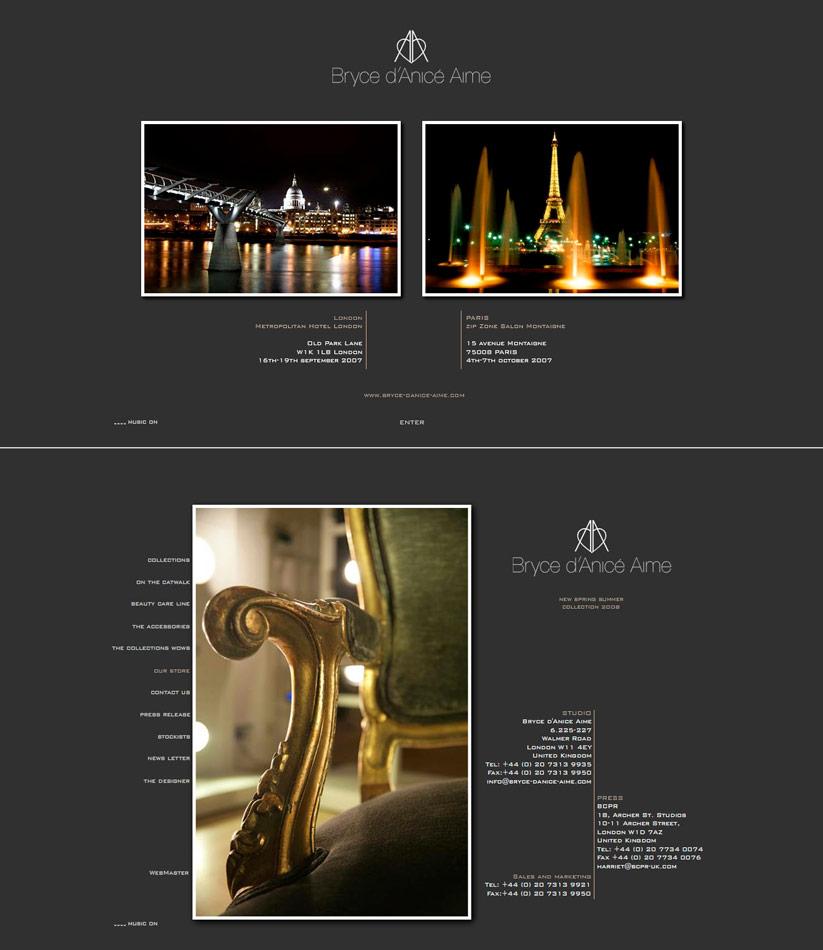 Bryce Aime / website / 2008
