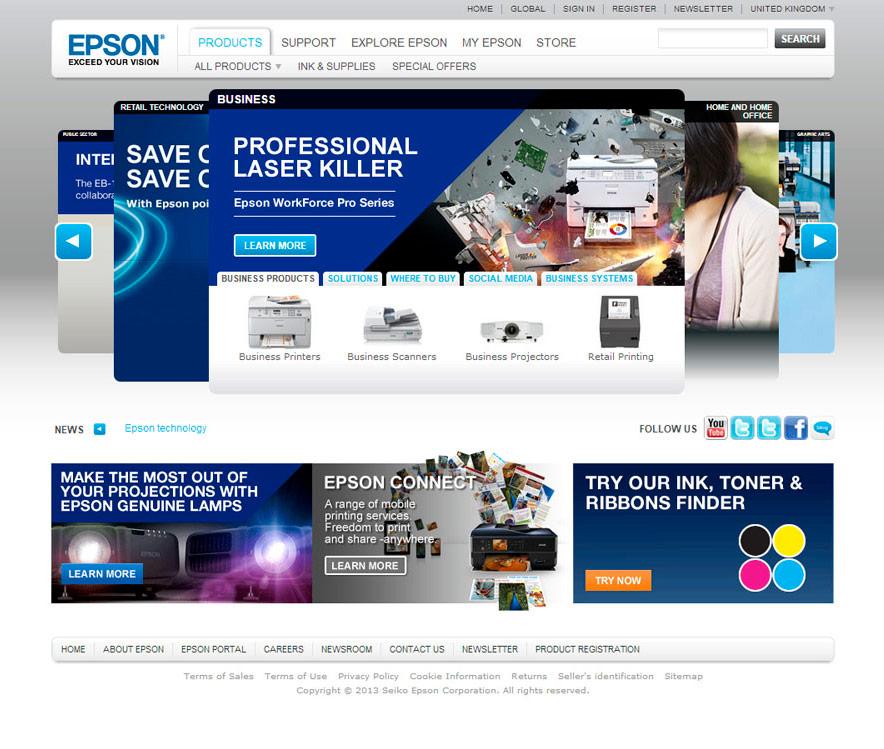 Epson / website / 2008
