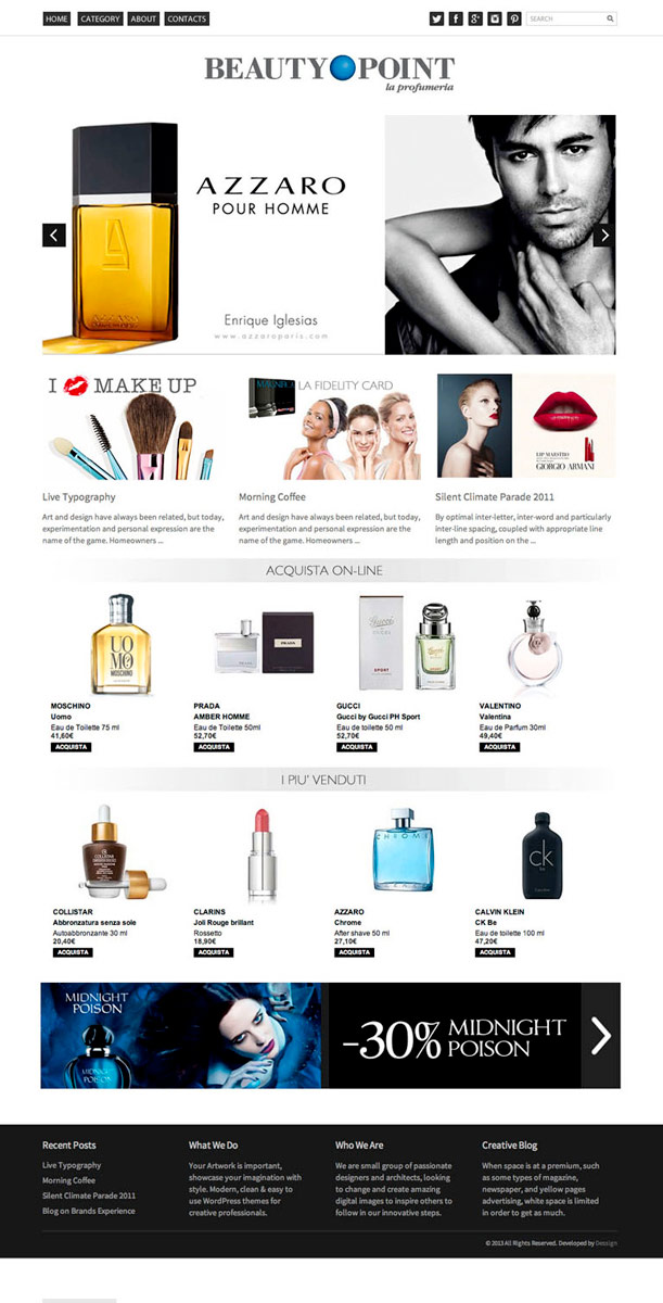 Beautypoint / website / 2013