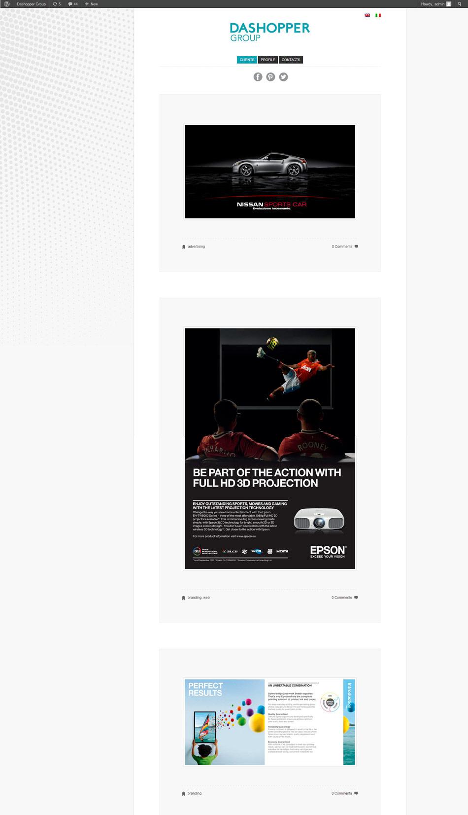 Dasopper group / website / 2013