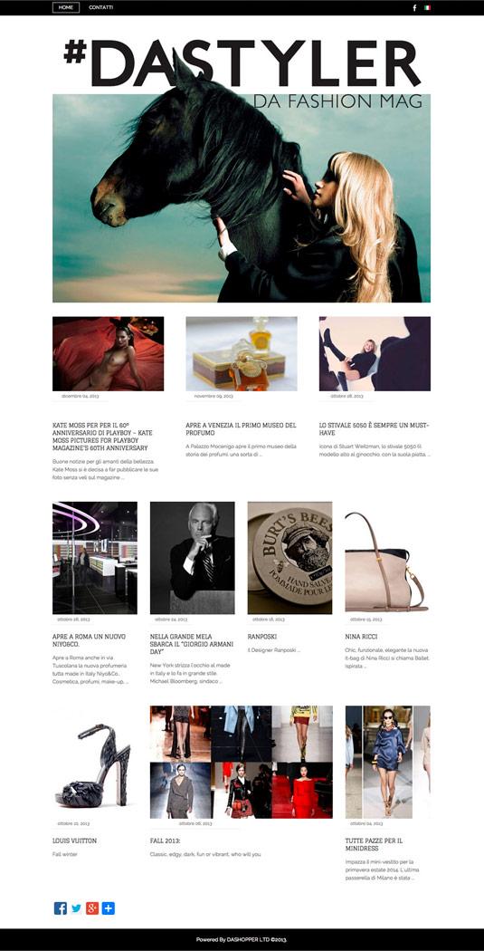 Dastyler / website / 2013