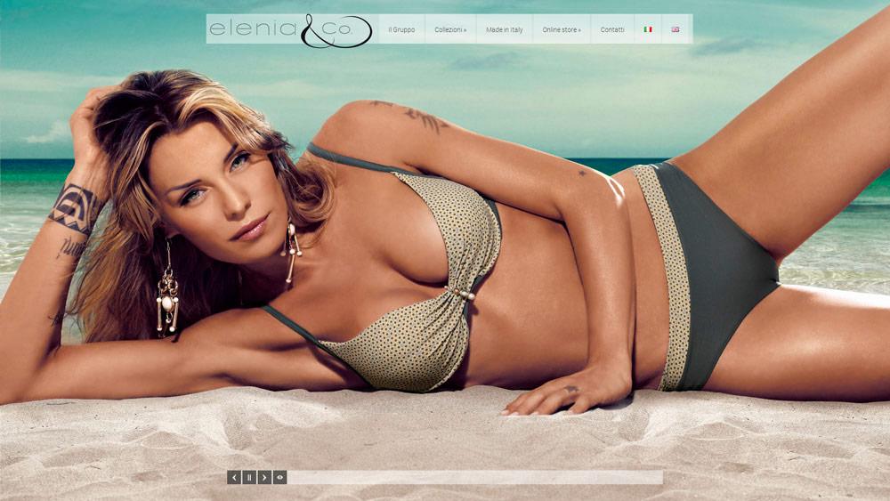 Elenia Beachwear / website / 2013
