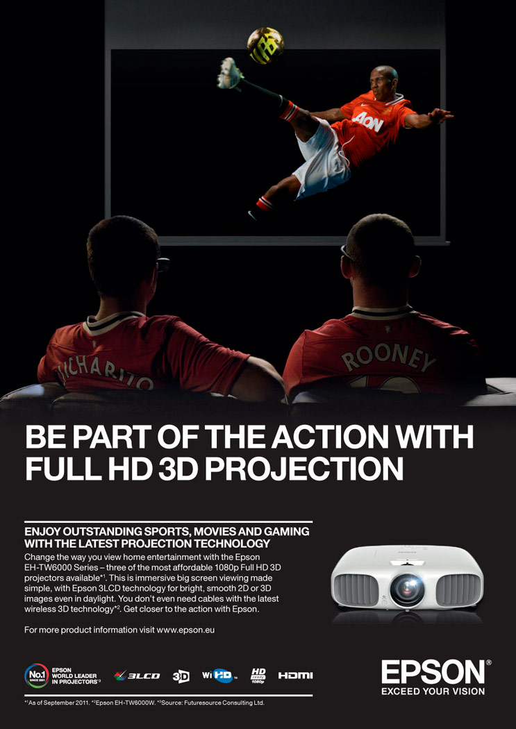 Epson / 3D projector campaign / 2012