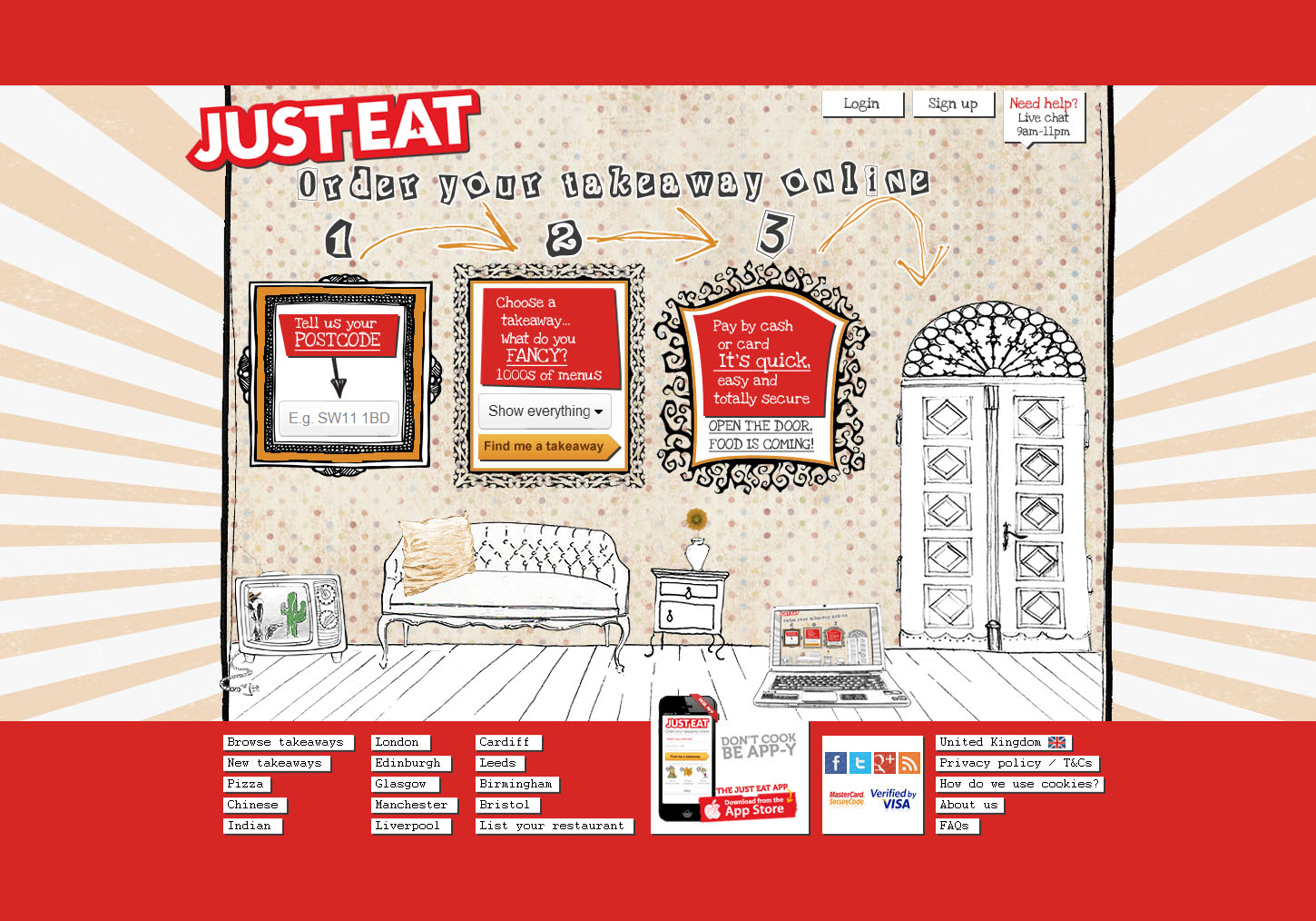 Just Eat / demo project for new homepage / not published / 2012