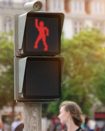 The dancing traffic lights