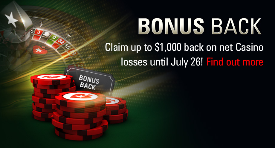 Pokerstars / Casino Bonus Back