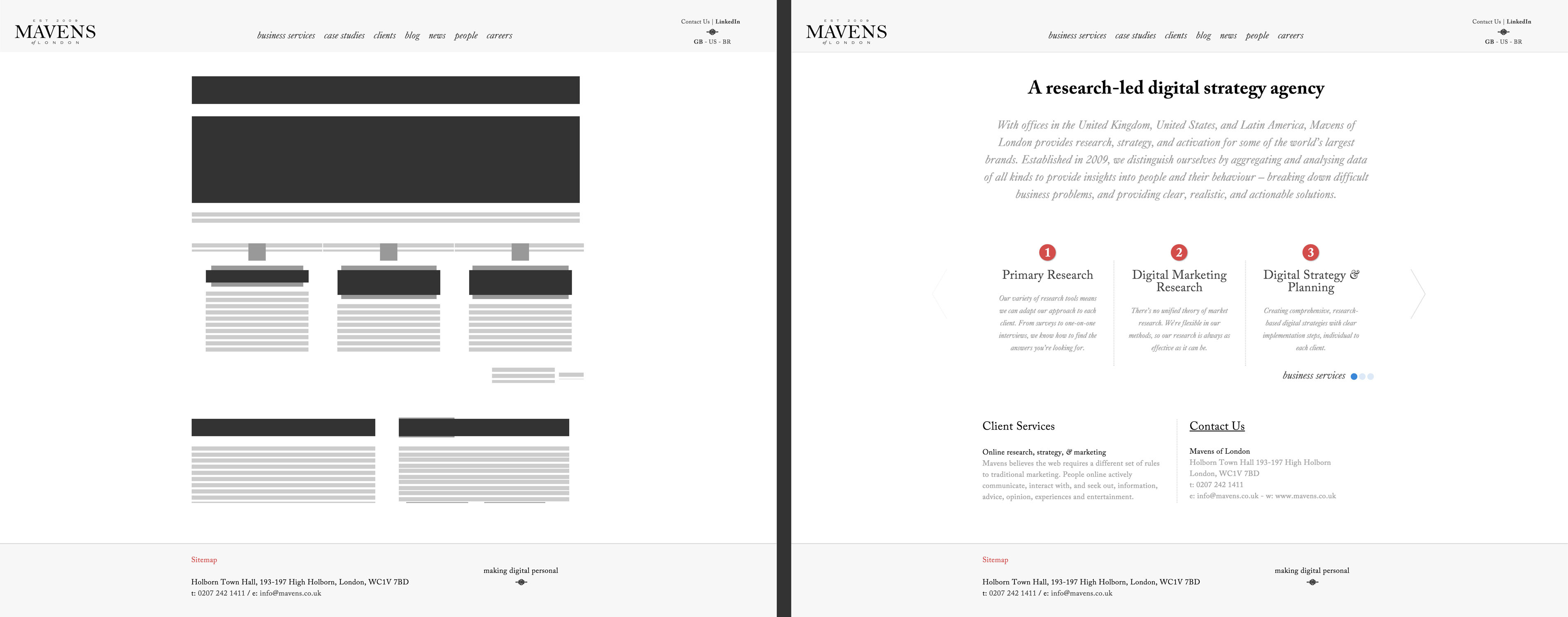 Mavens of London / Wireframe 01