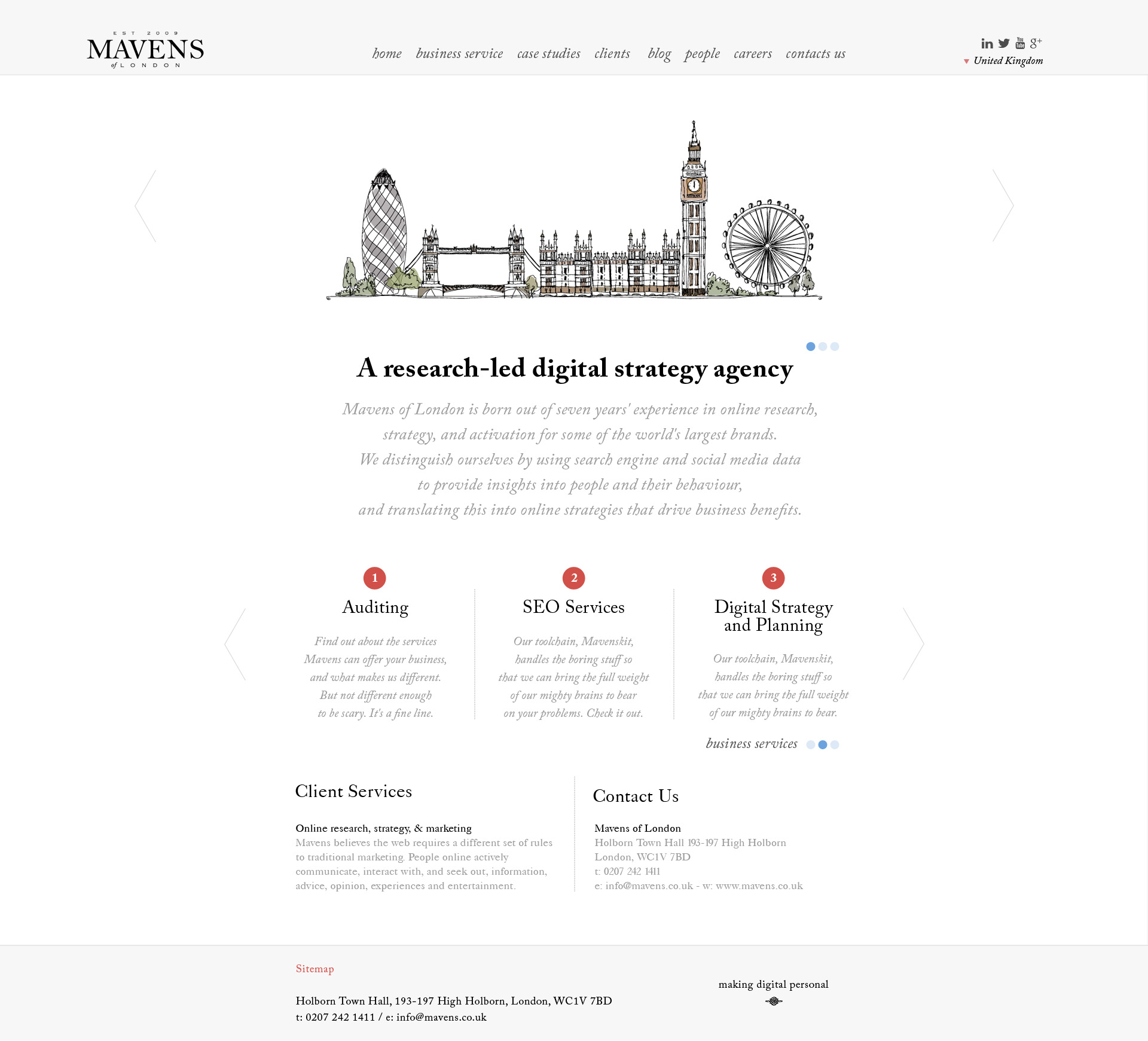 Mavens of London / Homepage 01
